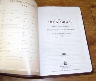 HOLY BIBLE NKJV LARGE PRINT   NIB   NEW KING JAMES VERS