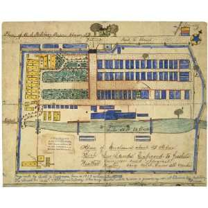 War Map Plan of U.S. military prison, Elmira, N.Y