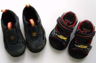 Lot 2 Disney Pixar Cars Sandals 5.5, 7 Black Shoes Boy