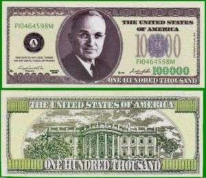 50 Factory Fresh Harry Truman 100,000 Dollar Bills