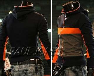 PJ Fashion Mens Hooded Designed Coat Jacket US(XS~L)