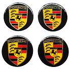 Porsche 60 MM RESIN STICKER DECALS Wheel Center Caps Classic