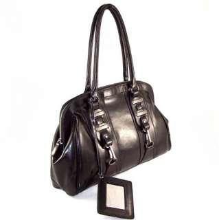 New Black Cowhide Leather Large Tote Handbag GreatValue