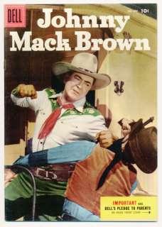 FOUR COLOR #645 VF Johnny Mack Brown Dell Comics 1955