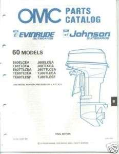 1989 Evinrude Johnson 60 hp Outboard Parts Catalog
