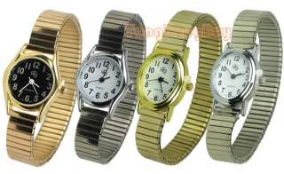 Classical Expansion Band Women Lady Quartz Wrist Watch 4 Colors