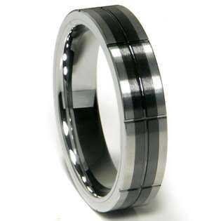 7MM Grooved Tungsten Carbide Ring Wedding Band  ultimatemetalsco