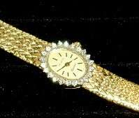 22 DIAMOND &14K YELLOW GOLD WATCH   For Small Wrist**