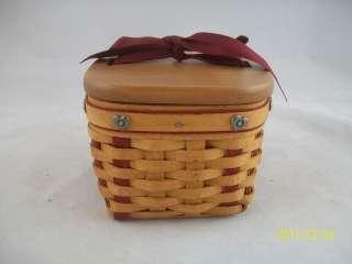 Longaberger 2002 Sweetheart Small Sweetest Gift Basket Combo
