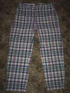 Polo Ralph Lauren Plaid Buckle Back Golf Pants 33 x 30