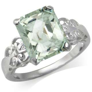 73ct. Natural Green Amethyst & White Topaz 925 Sterling Silver