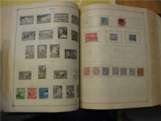 1940 Vintage Scott International Junior Stamp Album & Stamps