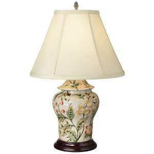 Southern Charm Porcelain Ginger Jar Tuscan Table Lamp