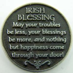 Celtic Happiness Irish Blessing Catholic Devotion Prayer Coin Token