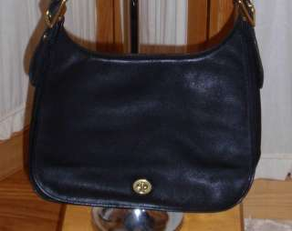 Used Coack Black Leather Large Handbag Lots of Life In This Bag