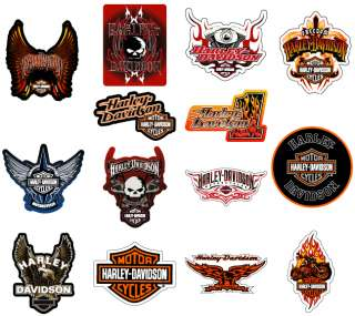 HARLEY DAVIDSON STICKERS * 14 PCS * COLLECTION SET NEW MOTORCYCLE