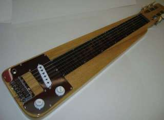 String Lap Steel Electric Guitar, Natural Finish, Solid Wood