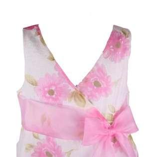 Bonnie Jean Girls Pink Floral Print Dress  Clothing Girls Dresses