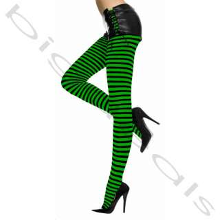 Stocking Legging Pantyhose Nylon Hi Halloween Stripe Hosiery