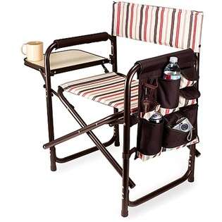 Picnic Time Sports Chair Folds w/ Table & Pockets Moka   #809 00 777