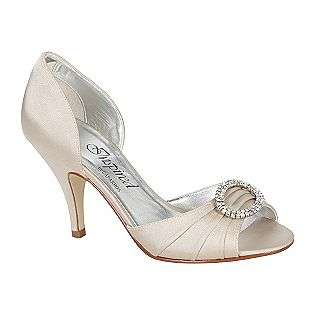 Womens Shoes Dazzle Pump Peep Toe   Champagne  Inspired by Caparros