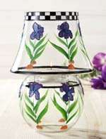 Iris Clear Glass Candle Lamp w Tea Lights NEW 088235094568