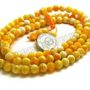 8mm Tibet Buddhism 108 Gold Amber(Mila)Prayer Bead Mala
