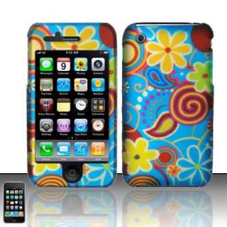 Jazzy Flowers Apple iPhone 3 / 3GS Hard Case Cover Verzion, AT&T