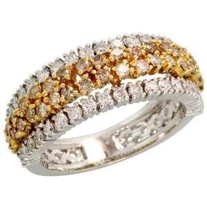 14k 2 Tone (Yellow & White) Gold Ladies Diamond Ring, w/ 1.15 Carats