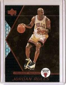 1998 99 UD OVATION Michael Jordan JORDAN RULES Card #J3