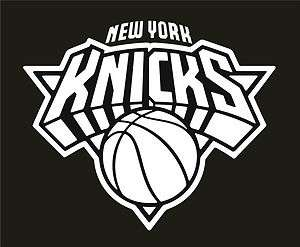 New York Knicks Vinyl Car Window Sticker / Decal (White)