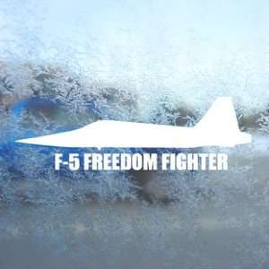 F 5 FREEDOM FIGHTER White Decal Military Soldier Car White