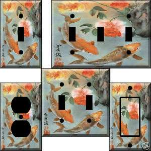 Two Koi Light Switch Plate Cover switchplate
