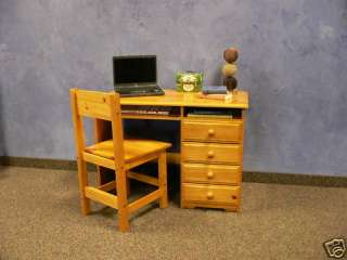 Solid Wood New Student Desk & Chair  Honey finish