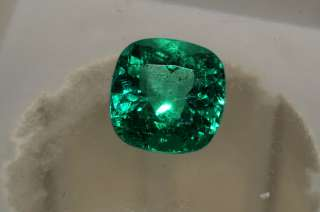42,500 2.41CT AGL CERTIFIED NATURAL CUSHION CUT LOOSE EMERALD GEMSTONE