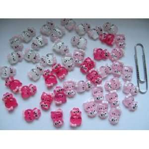 Nail Art 3d 45 Pieces Mix Crystal Glitter Hello Kitty for