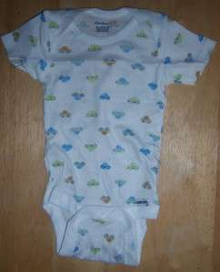 New Gerber Single Onesie, Baby Shower, Pink, Blue, Dot, Flower, Car