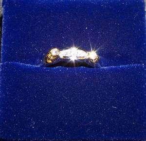14K Yellow Gold/18K White Gold Diamond Ring 3.8 Grams