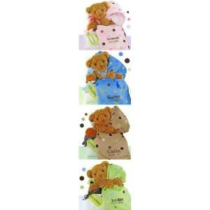 Bear Essentials Polka Dot Personalized Gift Set (4 Colors) Baby