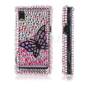 Ecell   BLACK BUTTERFLY CRYSTAL BLING CASE FOR MOTOROLA