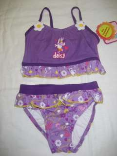 NEW DISNEY STORE DAISY DUCK 2 PIECE SWIM SUIT~GIRLS SIZE 3T~#559