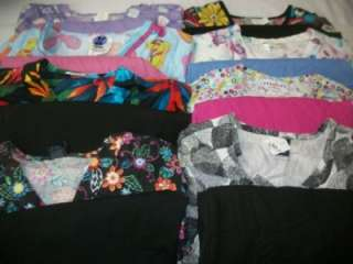Medical Dental Scrubs Lot of 8 Printed Outfits Sets Size SMALL S SM