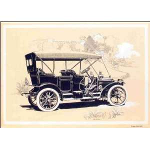 Reprint The Packard Eighteen open car with extension cape cart top