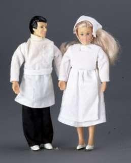 dollhouse miniature DOLL DOCTOR & NURSE SET PEOPLE NEW