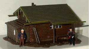 MODEL POWER HO SCALE FISHERMANS CABIN BUILDING