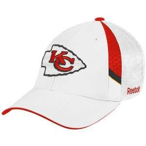 Reebok Kansas City Chiefs White 2009 Draft Day Flex Fit