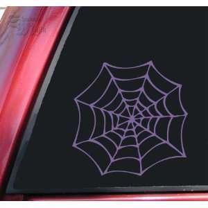 Spider Web Vinyl Decal Sticker   Lavender