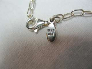 PANDORA STERLING SILVER 925 LINK CHAIN CHARM NECKLACE