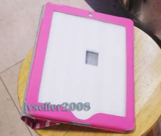 Dot Leather Case Cover W/Stand For iPad 2 Hot Pink 076783016996