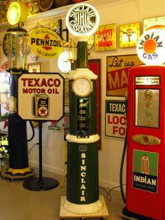 1925 30 National Simplex 60 Clockface Gas Pump hand operated with